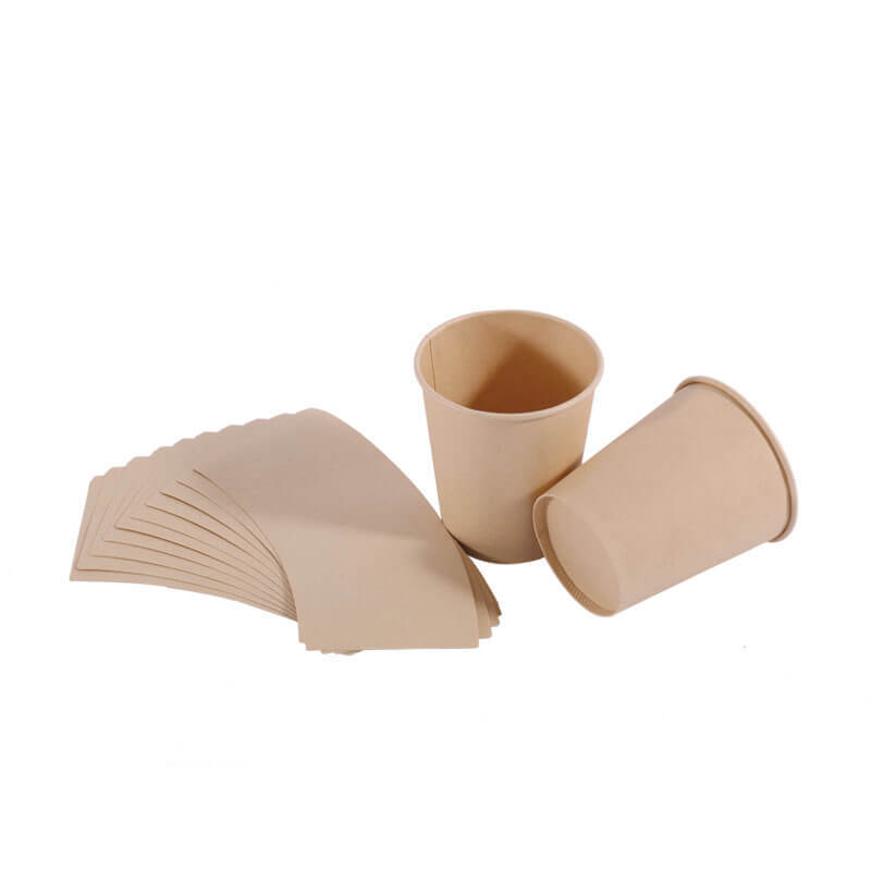 Biodegradable unbleached Bamboo Pulp Cup Paper for Cups