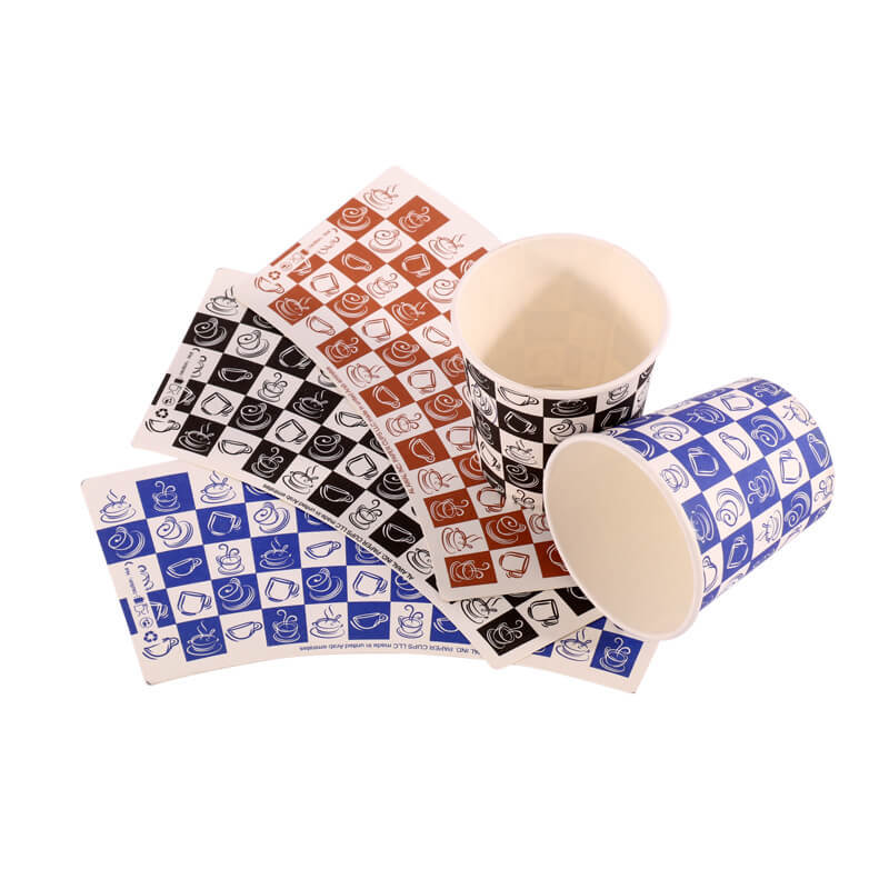PE Coated Cup Paper Printed Cup Blanks
