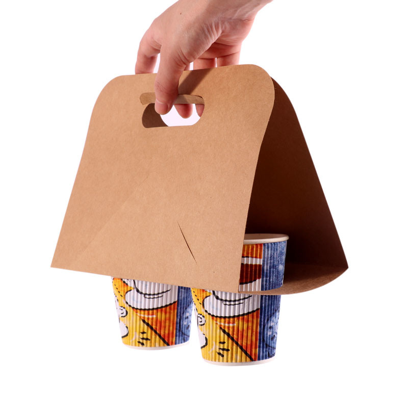 Paper carrier for coffee cups