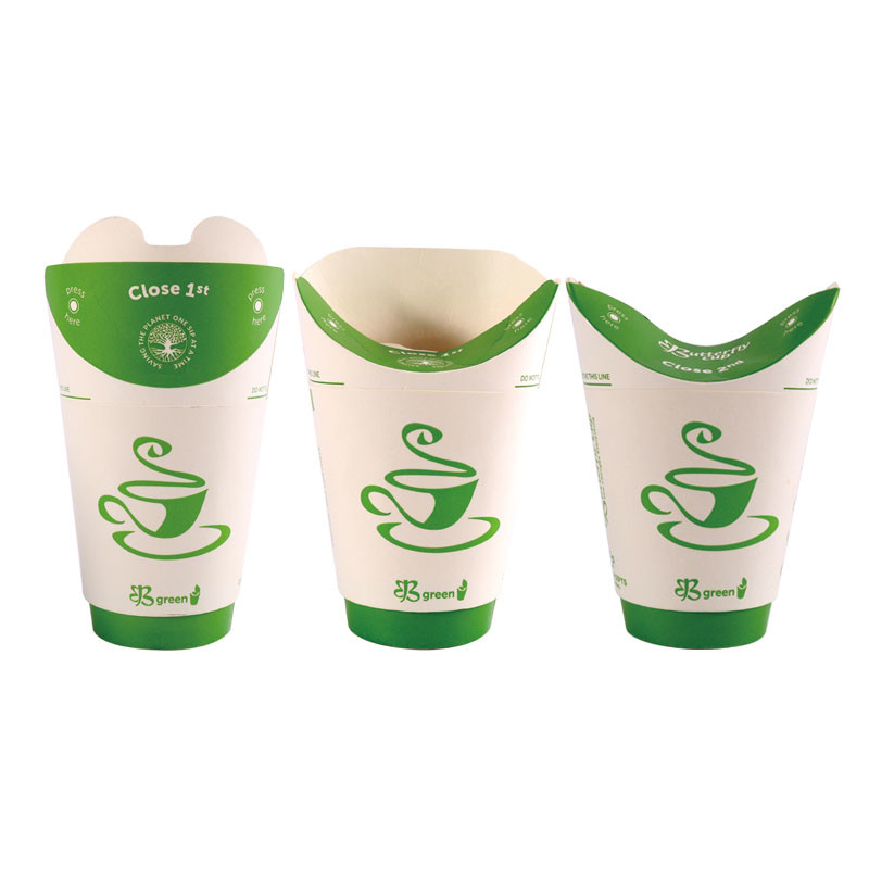Butterfly new green paper cup