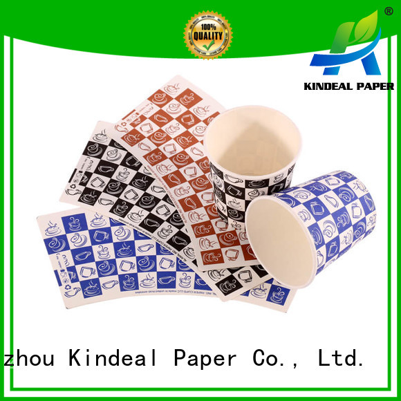 Kindeal Paper biodegradable paper design for peper cup factory