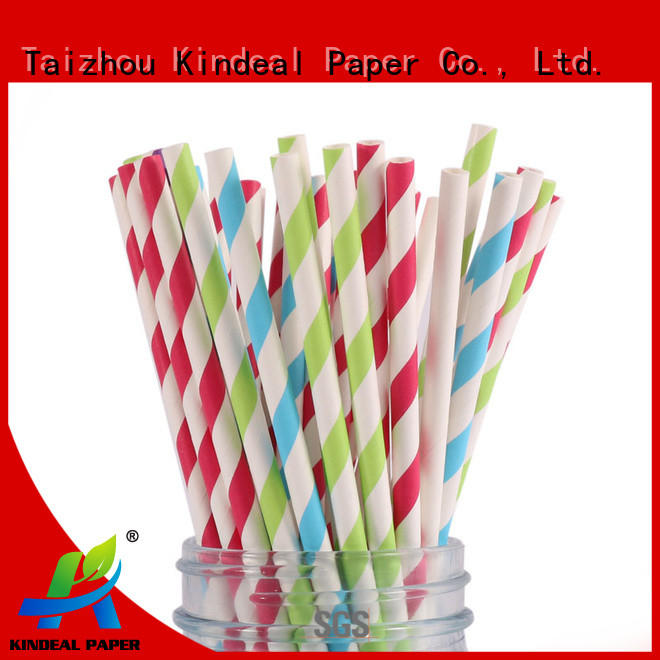 Kindeal Paper biodegradable cocktail straws customized for beverage
