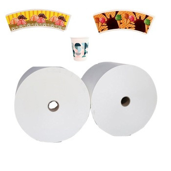 Wholesale Biodegradable PLA coated paper with raw material roll paper for pla paper cup