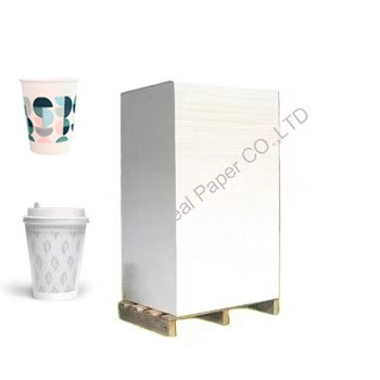 TOP1 pe coated paper cup raw material high stiffness paper sheet
