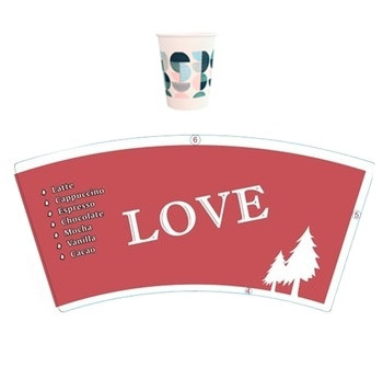 pe coated paper cup raw material in custom design