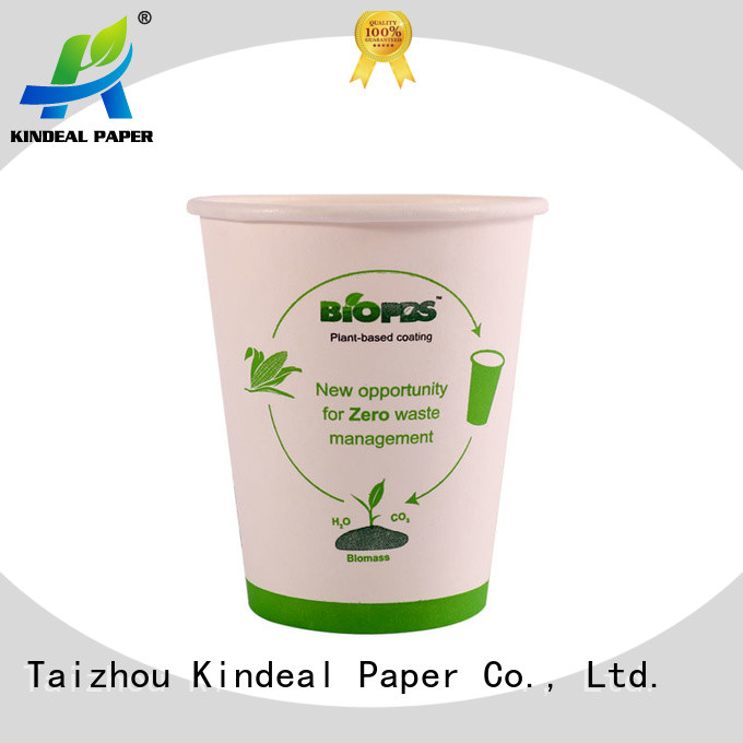 Kindeal Paper bamboo cup directly sale for fast food